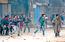 Professionals behind stone-pelting in Kashmir