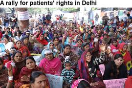A rally for patients' rights in Delhi