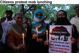Citizens protest mob lynching
