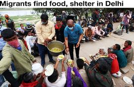 Migrants find food, shelter in Delhi