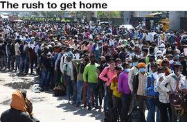 The rush to get home